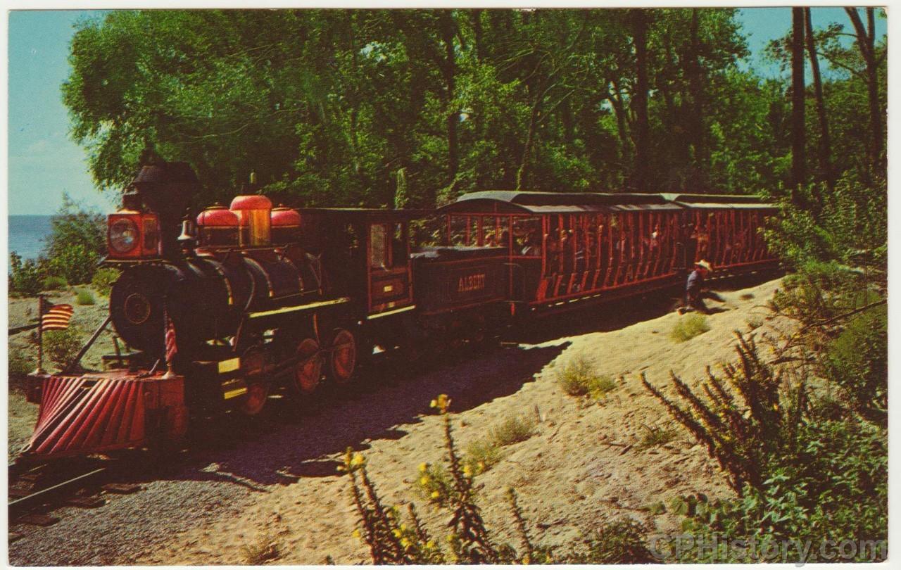 Cedar Point Railroad Albert - Wild West - Postcard - Front.jpg