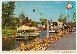 Frontier Lift Over River Ride Postcard