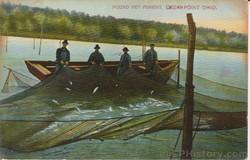 Pound Net Fishing Postcard