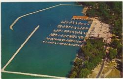Cedar Point Marina 1959 Postcard