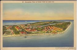 90 Aeroplane View of Cedar Point on Lake Erie - Front.jpg