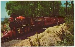 Cedar Point Railroad Albert - Wild West Scene Postcard