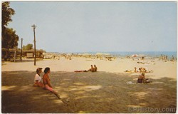 Bathing Beach on Lake Erie at Cedar Point - Postcard - Front.jpg